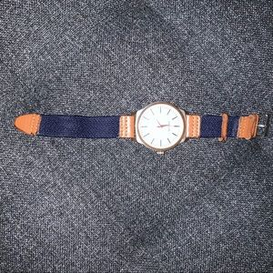 Canvas band watch